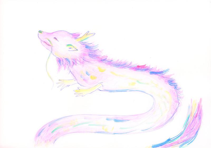 ピンクの龍